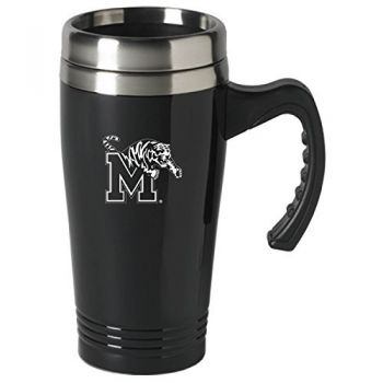 University of Memphis-16 oz. Stainless Steel Mug-Black