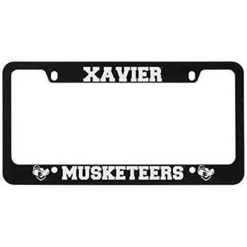 Xavier University-Metal License Plate Frame-Black