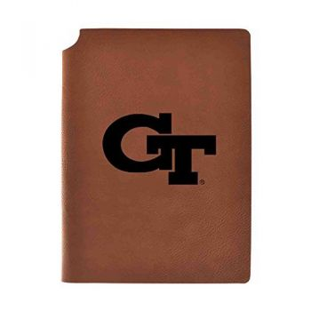 Georgia Institute of Technology Velour Journal with Pen Holder|Carbon Etched|Officially Licensed Collegiate Journal|