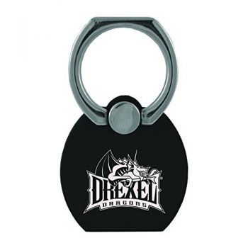Drexel University|Multi-Functional Phone Stand Tech Ring|Black
