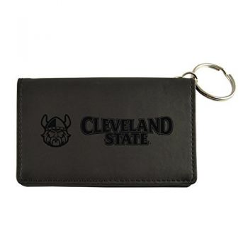 Velour ID Holder-Cleveland State University-Black