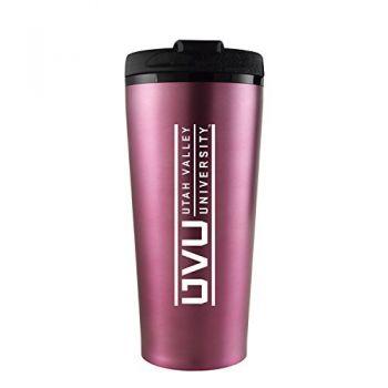Utah Valley University -16 oz. Travel Mug Tumbler-Pink