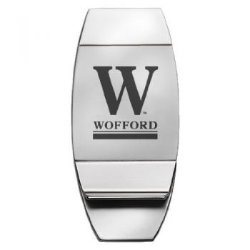 Wofford College - Two-Toned Money Clip - Silver