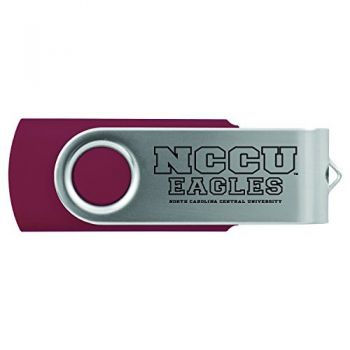 North Carolina Central University -8GB 2.0 USB Flash Drive-Burgundy