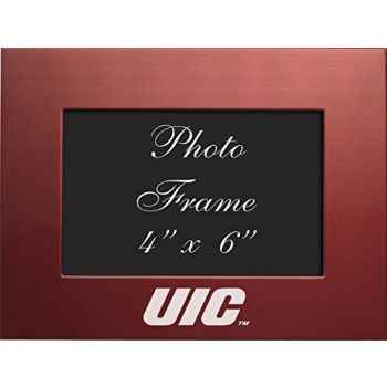 University of Illinois at Chicago - 4x6 Brushed Metal Picture Frame - Red