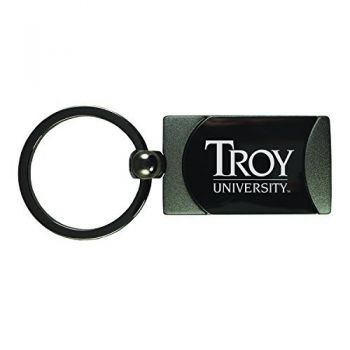 Troy University-Two-Toned Gun Metal Key Tag-Gunmetal