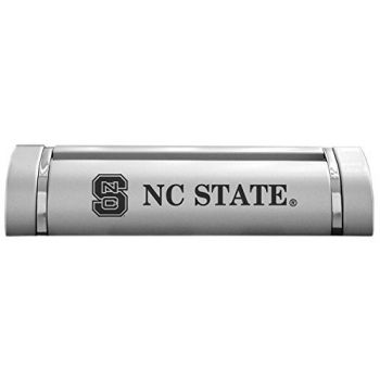 North Carolina State University-Desk Business Card Holder -Silver