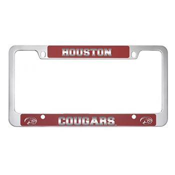 University of Houston-Metal License Plate Frame-Red