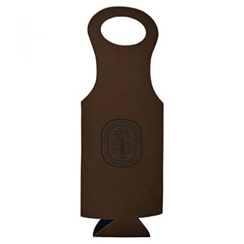 South Carolina State University-Velour Wine Tote-Brown