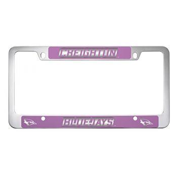 Creighton University -Metal License Plate Frame-Pink
