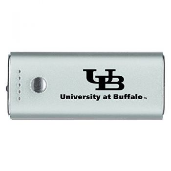 University at Buffalo-The State University of New York -Portable Cell Phone 5200 mAh Power Bank Charger -Silver