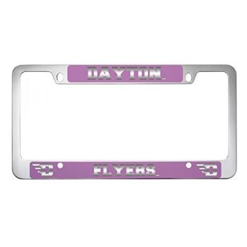University of Dayton -Metal License Plate Frame-Pink