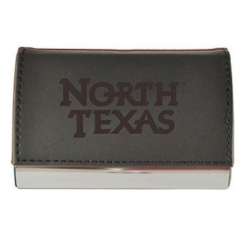 Velour Business Cardholder-University of North Texas-Black