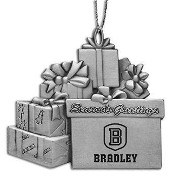 Bradley University - Pewter Gift Package Ornament