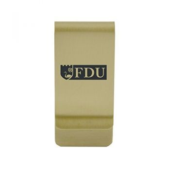 Eastern Washington University|Money Clip with Contemporary Metals Finish|Solid Brass|High Tension Clip to Securely Hold Cash, Cards and ID's|Silver