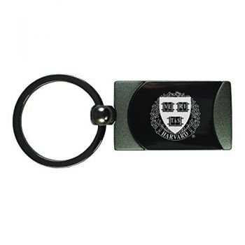 Harvard University -Two-Toned gunmetal Key Tag-Gunmetal