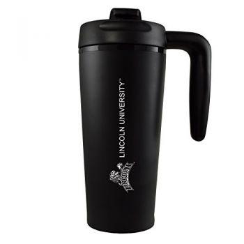 Lincoln University-16 oz. Travel Mug Tumbler with Handle-Black