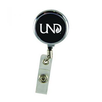 University of North Dakota-Retractable Badge Reel-Black