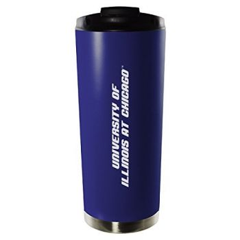 University of Illinois at Chicago-16oz. Stainless Steel Vacuum Insulated Travel Mug Tumbler-Blue