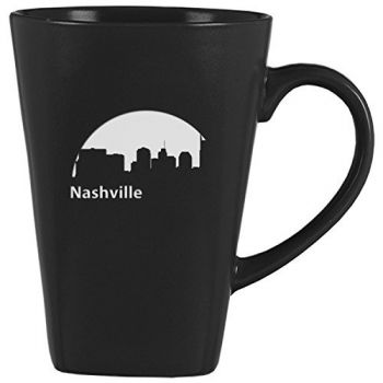14 oz Square Ceramic Coffee Mug - Nashville City Skyline
