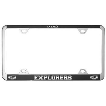 La Salle State University -Metal License Plate Frame-Black