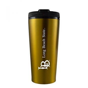 Long Beach State University -16 oz. Travel Mug Tumbler-Gold