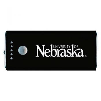 University of Nebraska-Portable Cell Phone 5200 mAh Power Bank Charger -Black