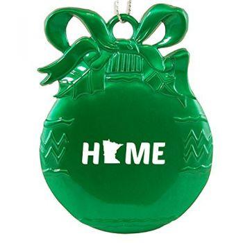 Pewter Christmas Bulb Ornament - Minnesota Home Themed - Minnesota Home Themed