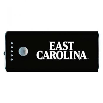 East Carolina University-Portable Cell Phone 5200 mAh Power Bank Charger -Black
