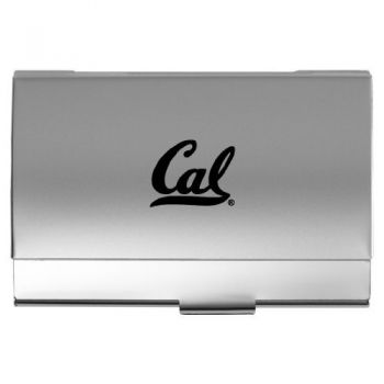 University of California, Berkeley - Two-Tone Business Card Holder - Silver