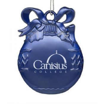 Canisius College - Pewter Christmas Tree Ornament - Blue