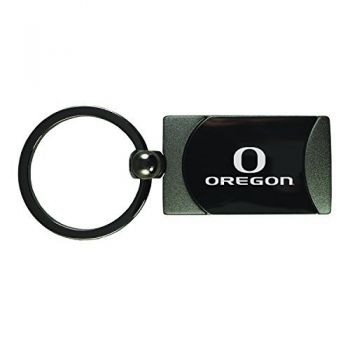 University of Oregon -Two-Toned Gun Metal Key Tag-Gunmetal