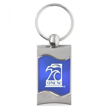 University of North Carolina Wilmington - Wave Key Tag - Blue