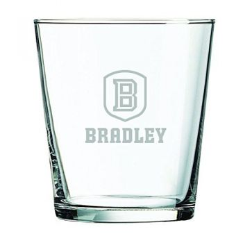 Bradley University -13 oz. Rocks Glass