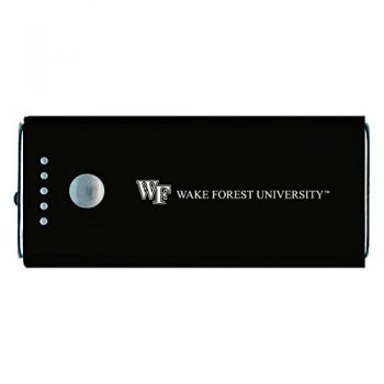 Wake Forest University -Portable Cell Phone 5200 mAh Power Bank Charger -Black