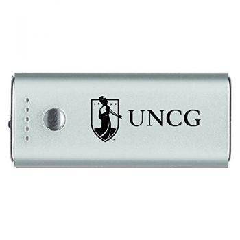 University of North Carolina at Greensboro-Portable Cell Phone 5200 mAh Power Bank Charger -Silver