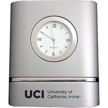 University of California, Irvine- Two-Toned Desk Clock -Silver