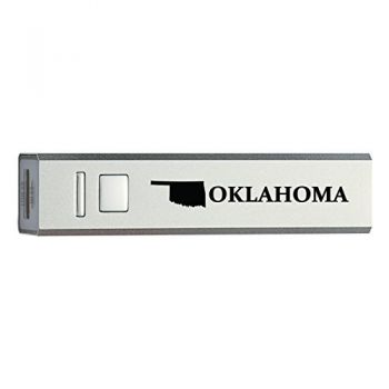 Oklahoma-State Outline-Portable 2600 mAh Cell Phone Charger-