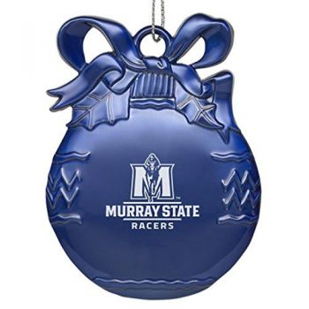 Murray State University - Pewter Christmas Tree Ornament - Blue