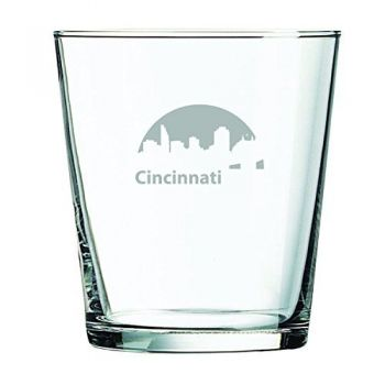 13 oz Cocktail Glass - Cincinnati City Skyline