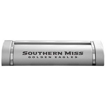 University of Southern Mississippi-Desk Business Card Holder -Silver