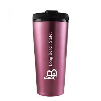Long Beach State University -16 oz. Travel Mug Tumbler-Pink
