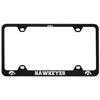 University of Iowa-Metal License Plate Frame-Black