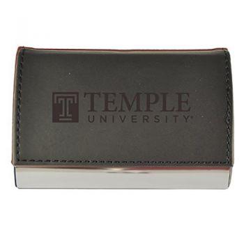 Velour Business Cardholder-Temple University-Black
