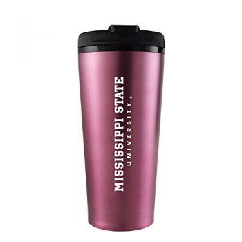 Mississippi State University -16 oz. Travel Mug Tumbler-Pink