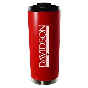 Davidson College-16oz. Stainless Steel Vacuum Insulated Travel Mug Tumbler-Red