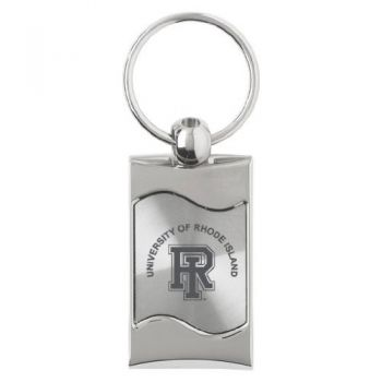 University of Rhode Island - Wave Key Tag - Silver