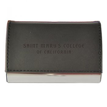 Velour Business Cardholder-Saint Mary's College of California-Black