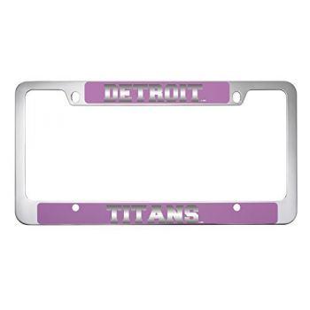 University of Detroit Mercy-Metal License Plate Frame-Pink