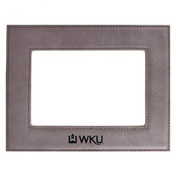 Western Kentucky University-Velour Picture Frame 4x6-Grey